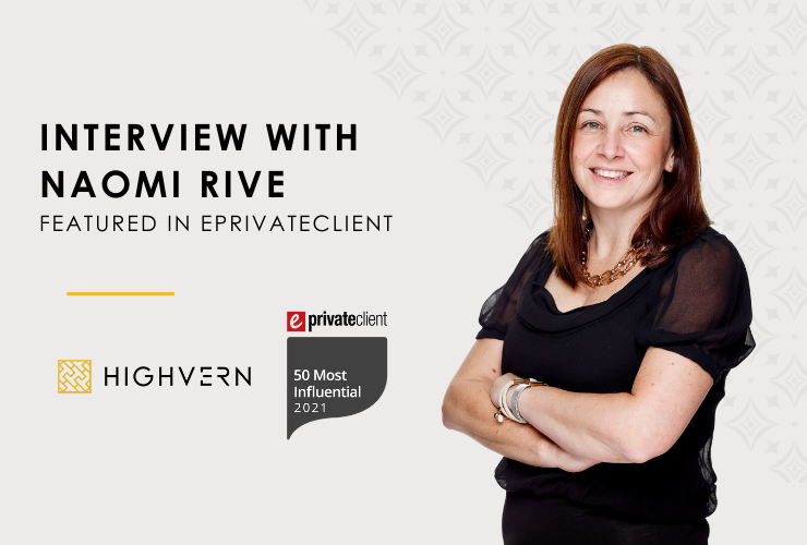 Interview with Naomi Rive featured in ePrivateClient