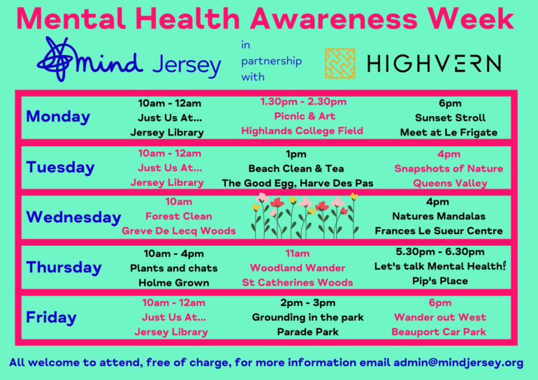 Highvern partners with Mind Jersey on Mental Health Awareness Week