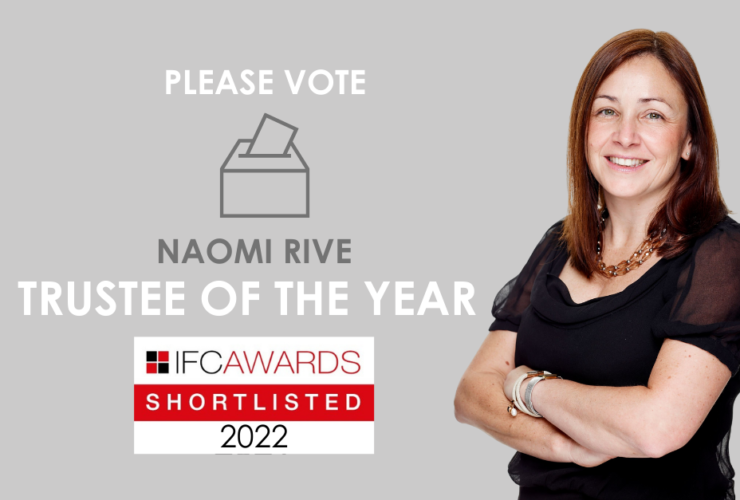 Naomi Rive shortlisted for Trustee of the Year Award
